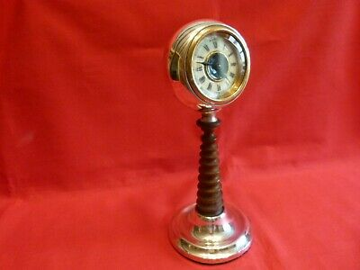 Unusual Chester 1927 Liberty Inspired Solid Silver & Enamel Mantle Clock.working