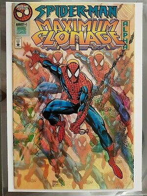 Spiderman Maximum Clonage Alpha #1 Gold Variant, Limited To 2,000