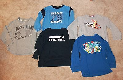 LOT OF 5 * Boys' 4T LONG-SLEEVED SHIRTS (Children's Place, Disney, Okie Dokie)