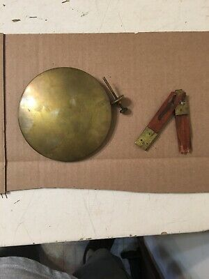 Heavy Antique Regulator Clock Pendulum Bob & Parts Fr: New Haven Long Drop Wall