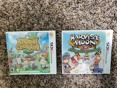 Animal Crossing: New Leaf (Nintendo 3DS, 2013) & Harvest Moon 3D A New Beginning