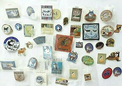 Big Lot Alaska IDITAROD SLED Husky DOG RACE LAPEL PINS + More