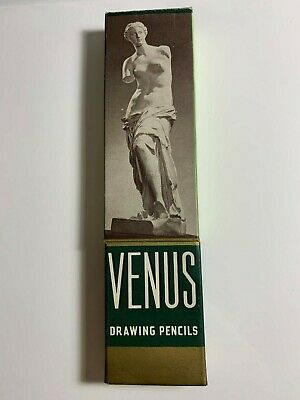 Vintage Venus Drawing Pencils box w/ 12 unused pencils - 2H Hard 3820