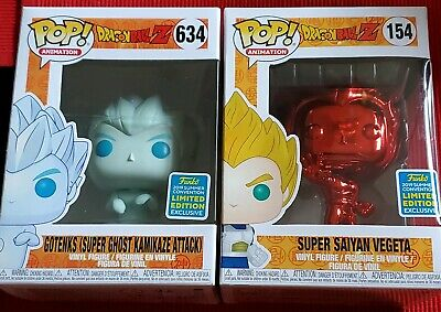 a6bbcdb82d719 Funko Pop! Dragonball Z Gotenks And SS Vegeta SDCC Exclusive IN HAND DBZ