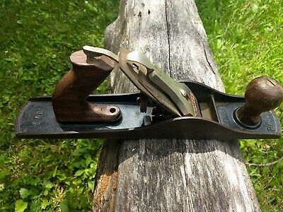Vintage Stanley Bailey No. 5 Wood Plane Smooth Bottom