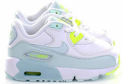 Details about No Laces 9C Nike Air Max 90 LTR WhiteWolf Grey Chlorine Blue (TD) (833379 102)