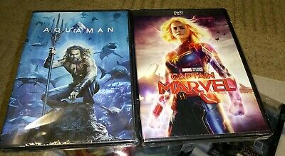 Captain Marvel AQUAMAN DVD 2019 New & Sealed Free Shipping Included! Marvel DC