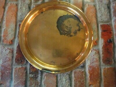 """J S & S solid copper plate made in england 8"""""""