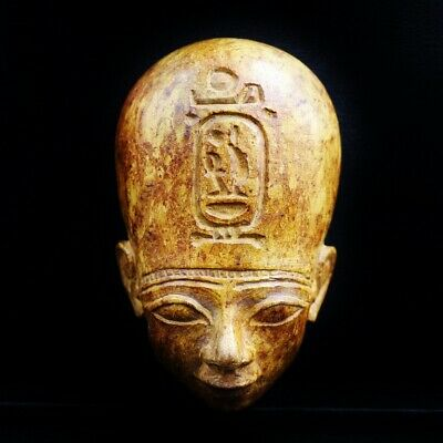 Stunning Antique Egyptian Pharaoh Stone Mask Bust Figure...RARE