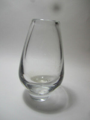 HADELAND NORWAY CLEAR GLASS VASE - 22cm height mid century