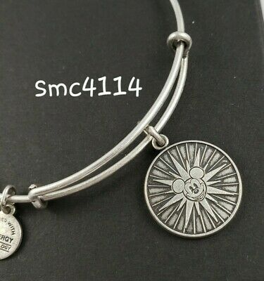 Disney ALEX AND ANI Disneyland Mickey's Fun Wheel SILVER Bangle Bracelet