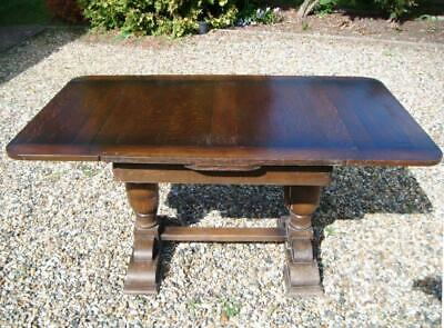 Antique/Vintage Dining Table, Solid Oak, Extendable (80+ years old)
