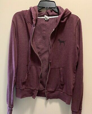 ca109a7f75ce9 VICTORIA SECRET PINK Womens Jacket Zip Up Hoodie Size Medium - $7.99 ...