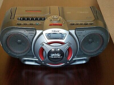 Sony CFD-G55 Boombox. Cassette Player/Recorder, CD Player, AM/FM Radio.
