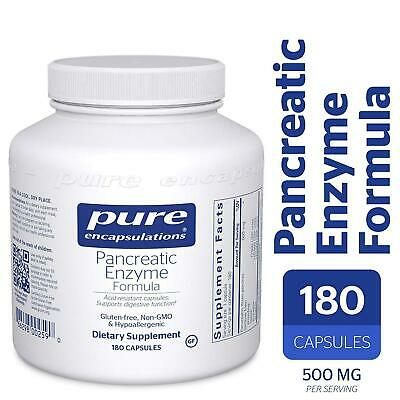 Pure Encapsulations Pancreatic Enzyme Formula 180 Capsules -- BRAND NEW