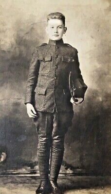 Original - Rppc Ww1 Us Army Air Corps Young  Soldier Real Photo Postcard Id'd