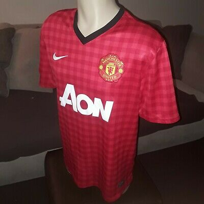 the latest ea707 a0c06 MANCHESTER UNITED FOOTBALL Shirt (size Med) vintage Nike Dri-Fit  jersey/home top