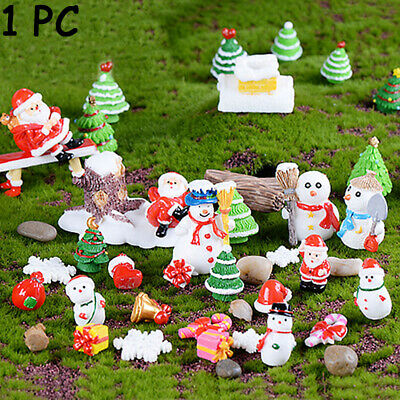 Garden Ornaments Miniature Santa Statue Cartoon Doll Xmas Figurines Mini Toys