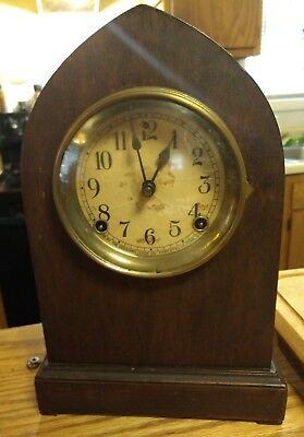 Antique Sessions Clock Company Cathedral Chime Beehive Clock, runs well
