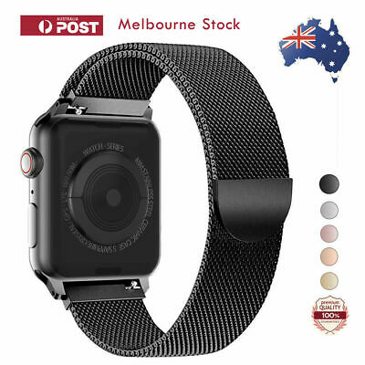 Apple Watch Milanese Black Stainless Steel Luxury Band for Apple Watch 4 3 2 1
