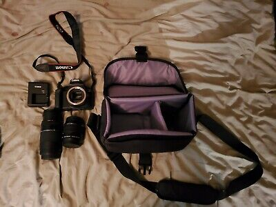 Canon EOS Rebel T7 with Lenses, Charger and Case