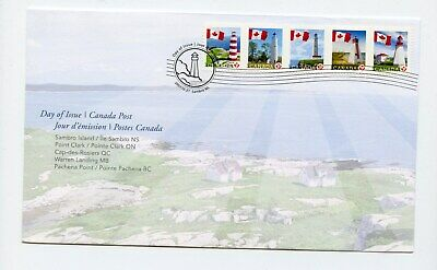 Canada FDC #2249-53 Lighthouses Booklet Stamps 2007 73-5