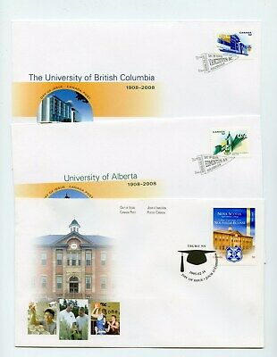 Canada FDC #2089 2263-64 Universities NS Ag College UBC Uof A 2005 2008 73-5