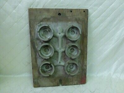 Wood Foundry Mold Circle Pattern Steampunk Industrial Table Top or Ashtray?