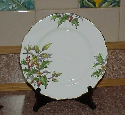 """Royal Albert English Bone China 8 1/8"""" Luncheon Plate Flower of the Month Holly!"""