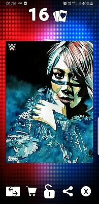 Topps WWE Slam Digital Card 100cc Asuka Art work Schamberger 2019