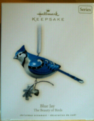 2007 Hallmark,BLUE JAY,THE BEAUTY OF BIRDS,FULL SIZE ORNAMENT