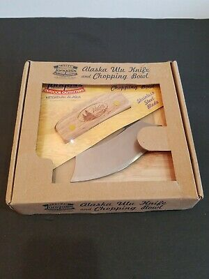 Awesome Alaska Ulu Knife And Chopping Bowl Brand New In Original Box Sealed