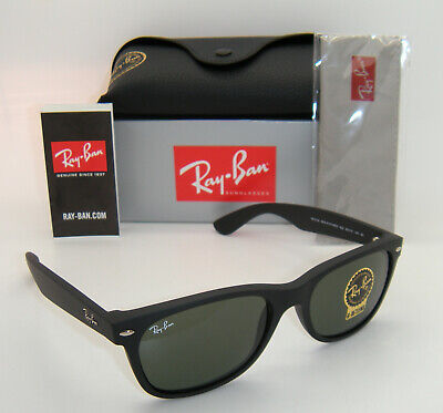 New Authentic Ray-Ban RB2132 622 58mm Rubber Black Frame Green G-15 Lenses
