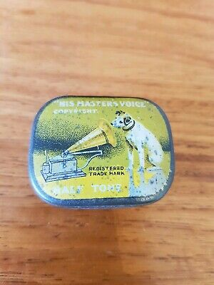 His Masters Voice HMV half tone needle tin and partial contents