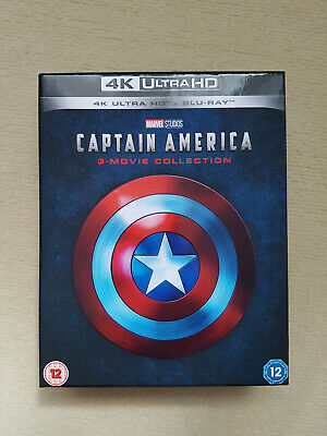 Captain America Trilogy Bluray 2d/4k - 3 movie collection (read)