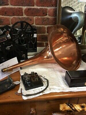 Rare Antique Copper Gramophone/Phonograph Horn/Loud Speaker - Stunning!