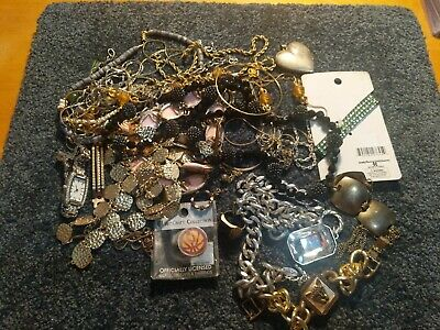 Vintage To Now Estate Find Jewelry Lot Junk Drawer Un Searched Untested Wear #9