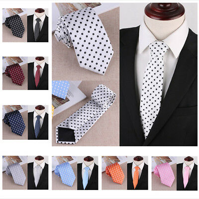 Casual Woven Polka Dot Formal Business Suit Mens Classic Tie Necktie Fashi#bxw