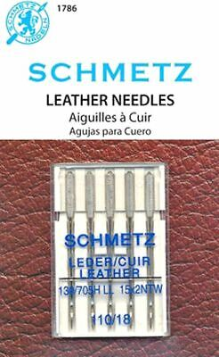 5 PACK SCHMETZ LEATHER SEWING MACHINE NEEDLES SIZE 18/110 Part# S-1786
