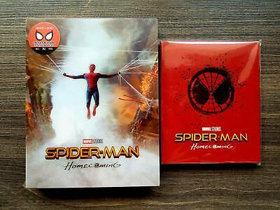 Spider-Man Homecoming (4D+2D Blu-ray SteelBook) (Blufans OAB30) [China] + Magnet
