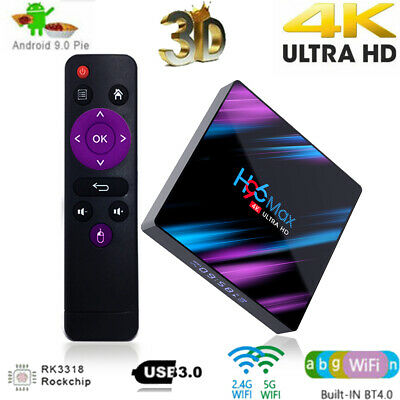 H96 Max 3318 Smart TV Box 4G+64G Android9.0 WiFi Quad Core 1080p 4K Media Player
