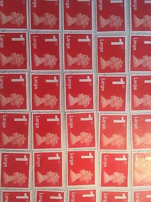 100 X 1st class Large Letter Stamps FV £100.6
