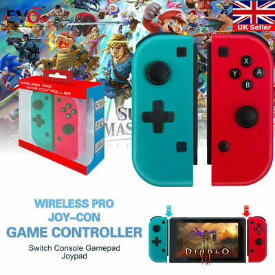 Wireless JoyCon Game Controller For Nintendo Switch Console Gamepad Joypad Q9I5G