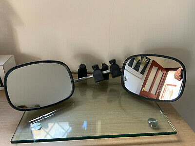 **Pair Of Milenco Style Towing Mirrors - Flat Glass**