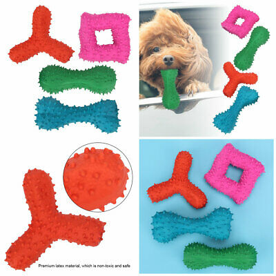 4x Pet Dog Cat Toy Puppy Chew Squeaker Squeaky Latex Pig Play Sound Toys