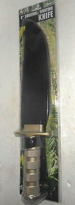 """8"""" SURVIVAL TACTICAL PRECISION HUNTING KNIFE W/ SHEATH Bowie Combat Fixed Blade"""