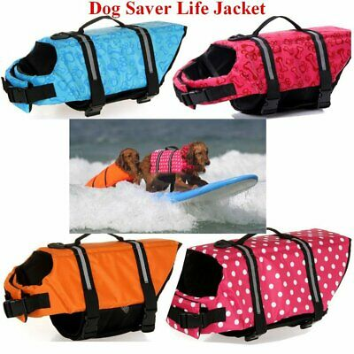 Pet Safety Vest Dog Life Jacket Preserver Puppy Large Swimming XXS - XXL Gd