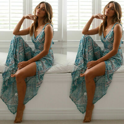 Evening Dress Summer Beach Long Cocktail Sundress Hot Maxi Women Boho Party