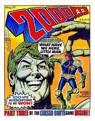 2000AD Prog 77 BANNED GREEN GIANT ISSUE + Judge Dredd  Comics Mid > HIGH GRADE