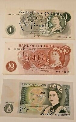 Bank Of England One Pound Ten Shillings Lot5